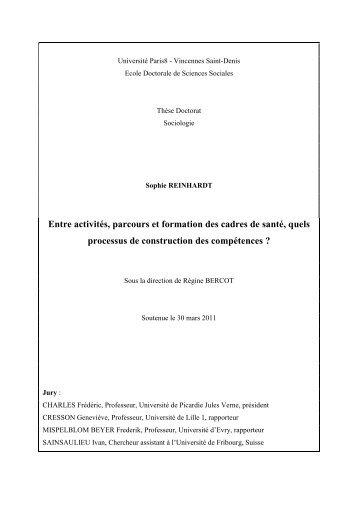 Entre activités, parcours et formation des cadres de ... - E-Corpus