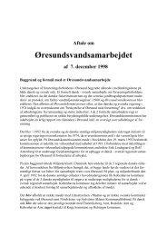 Samarbejdsaftale 1998 - Øresundsvandsamarbejdet