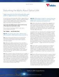 Debunking the Myths About Optical LAN - Tellabs