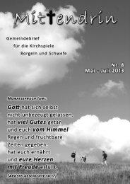 Nr. 8 - Mai/Juni/Juli 2013 - Evangelische Kirchengemeinden ...