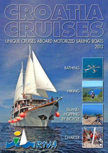 unique cruises aboard motorized sailing boats 2013 - Kompas