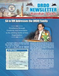 Vol. 31, Issue 01, January 2011 - DRDO