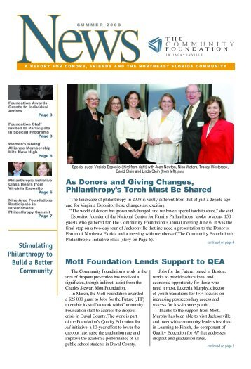 Mott Foundation Lends Support to QEA As Donors and Giving ...