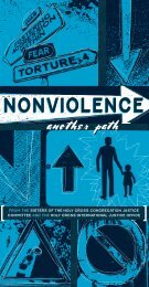 Nonviolence: another path - Sisters of the Holy Cross
