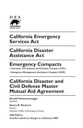 California Emergency Services Act California ... - State of California