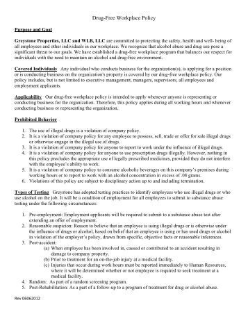 alcohol and drug abuse policy template - 9 3 alcohol and drug free workplace uniform policy