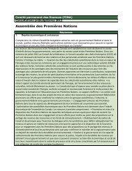 Consultations prébudgétaires 2012 - Assemblée des Premières ...