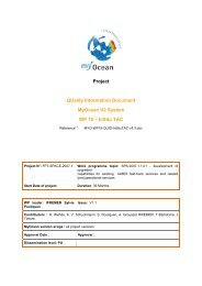 Project QUality Information Document MyOcean V2 System WP 15 ...