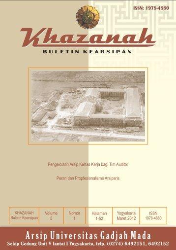 Buletin Khazanah Maret 2012 - Arsip UGM - Universitas Gadjah Mada
