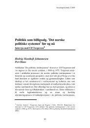 Det norske politiske systemet - Sosiologisk årbok