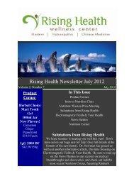 Volume 5 Issue 7 July 2012 - Rising Health Wellness Center