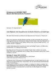 1112 Einladung Thurauen Naturschutzzentrum - Grüne Winterthur