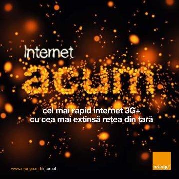2,5 GB cel mai rapid internet 3G+ cu cea mai extinsă reţea ... - Orange