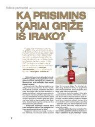 Ką prisimins Kariai grįžę iš iraKo?