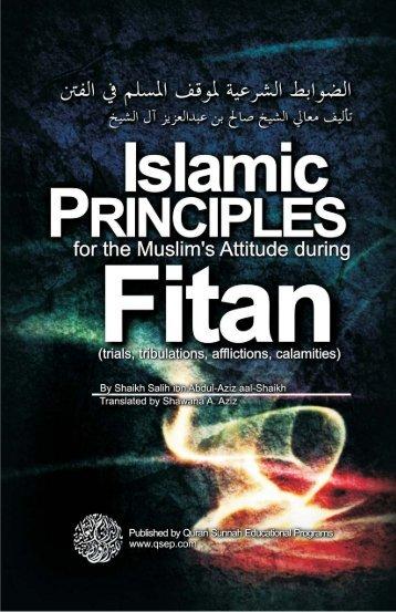 Principles During Times of Fitan - QSEP