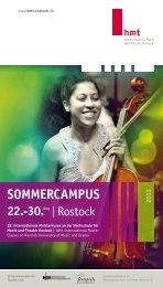 SommErcampuS - Hochschule für Musik und Theater Rostock