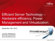 Efficient Server Technology – Hardware efficiency, Power ...
