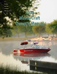 2009 MasterCraft Owner's Manual 2009 MasterCraft Owner's Manual
