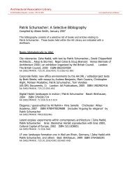 AA Library Bibliography - Architectural Association School of ...