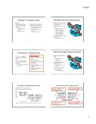 Transport Protocol, Reliable data transfer