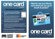 Want to use your library card wherever you go in ... - Lock Area School