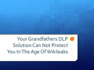 1/27/2011 Event Slides - DLP in the Age of Wiki Leaks