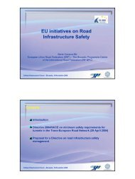 EU initiatives on Road Infrastructure Safety - Pass+Co
