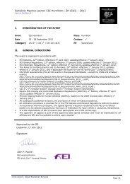 Schedule Maurice Lacroix CSI Humlikon | ZH (SUI) – 2012