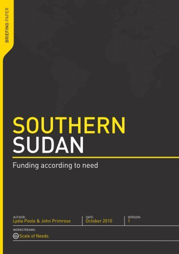 Southern Sudan - usaid / ofda