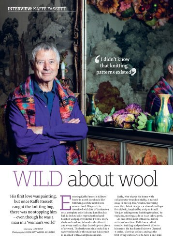 JULY/AUGUST CELEB INTERVIEW Kaffe Fassett.indd