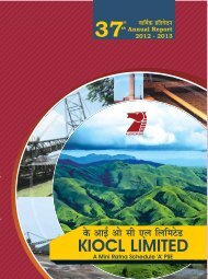 Download the Annual Report 2012-13. - kiocl limited