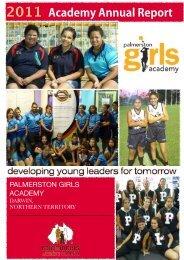 Palmerston 2011 Annual Report - Palmerston Girls Academy