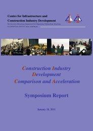 Summary Report - Department of Civil Engineering - The University ...