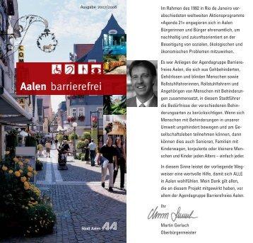 Aalen barrierefrei - Wegweiser für Menschen mit ... - Stadt Aalen