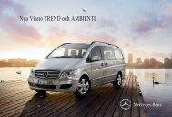 N ya Viano TREND och AMBIENTE - Mercedes-Benz