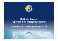 Sakhalin Energy - Global Compact Network Italia