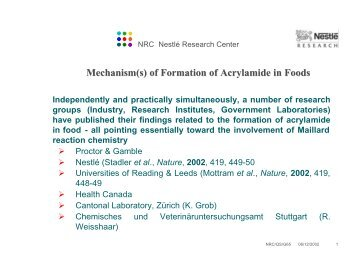 Mechanism(s) of Formation of Acrylamide in Foods - jifsan