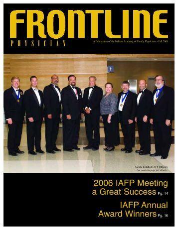 2006 IAFP Meeting a Great SuccessPg. 14 IAFP - Indiana Academy ...