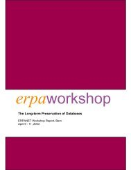 erpaworkshop The Long-term Preservation of Databases - Erpanet
