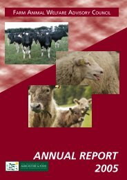 2005 FAWAC Annual Report - Farm Animal Welfare Advisory Council