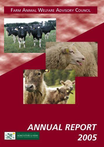 2005 FAWAC Annual Report - Farm Animal Welfare Advisory Council