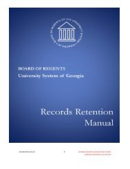 USG Records Retention Manual - University System of Georgia