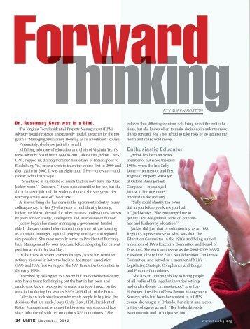 Forward thinking jackiw