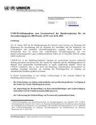 Stellungnahme zum Gesetzesentwurf der Bundesregierung ... - unhcr