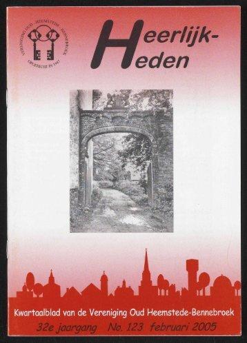 eerlijk eden - Historische Vereniging Heemstede-Bennebroek