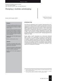 Dumping y medidas antidumping - Revista Peruana
