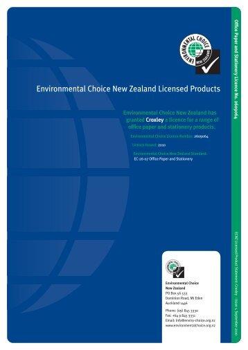 Croxley - Environmental Choice New Zealand