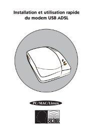 Branchements du modem USB ADSL - Olitec
