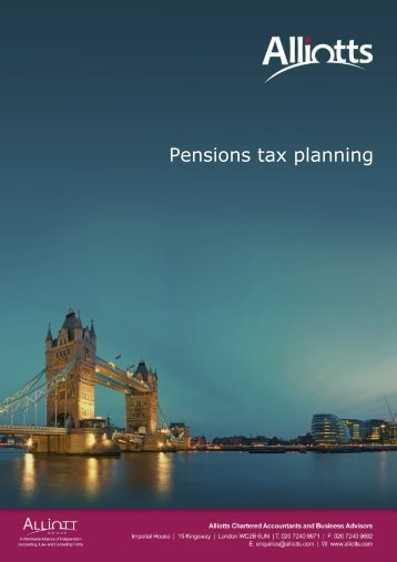 Pensions tax planning - Taxbriefs content for Alliotts