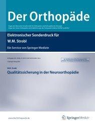 Qualitätssicherung, ORTHOPÄDE, 2010 - Motio